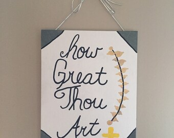 How Great Thou Art Canvas Art