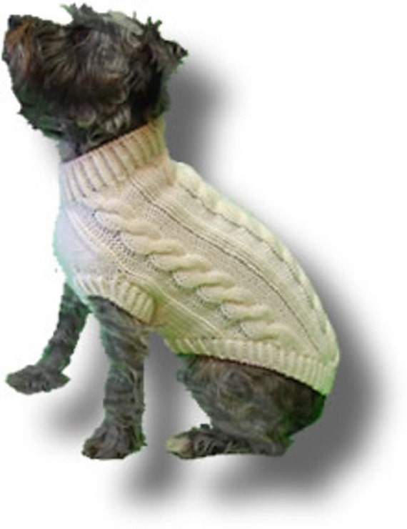 4 Cable Dog Sweater Pattern