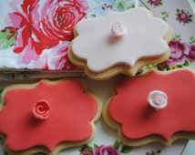 Valentine Cookies//Iced Biscuits/ Wedding Favours/ Edible Gift/Wedding Biscuits