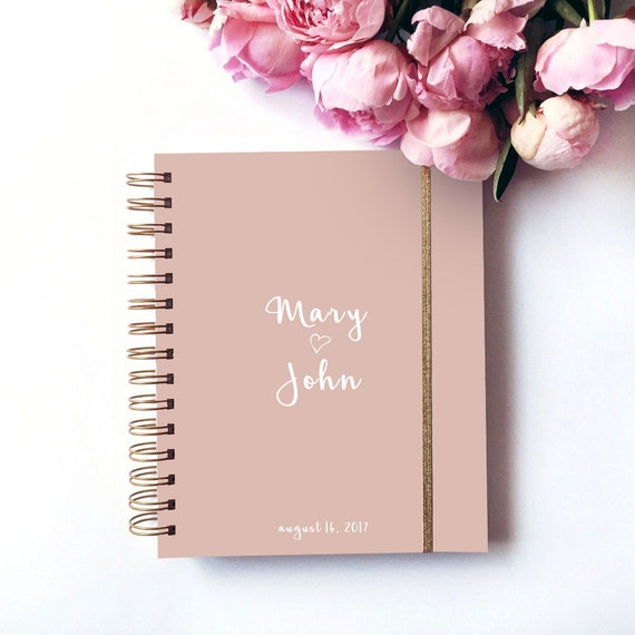 Wedding planner personalized elegant planner book by for Custom photo planner