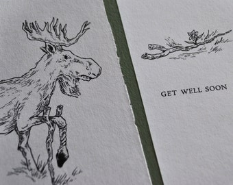 "Moose ""Get Well"" Card"