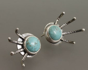 carnivora turquoise earrings