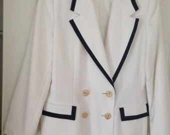 White Jacket with Black Border