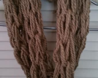 Light Brown Infinity Scarf