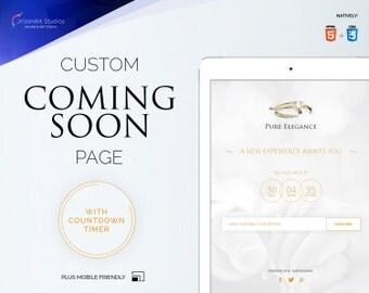 Coming Soon Web Page, Landing Page, Holding Page, Feminine Website, Elegant Website, Web Design