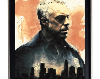 Harry Bosch Water Color Splatter Art Print Matte Print Poster watercolor