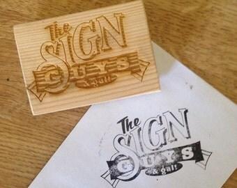 Custom Logo Stamp, Business Logo Stamp, Address Stamp