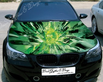 Car Bonnet Decal Etsy - Car vinyl decalsabstract full color graphics adhesive vinyl sticker fit any car
