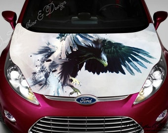 Hood Vinyl Sticker Etsy - Car vinyl decalsabstract full color graphics adhesive vinyl sticker fit any car