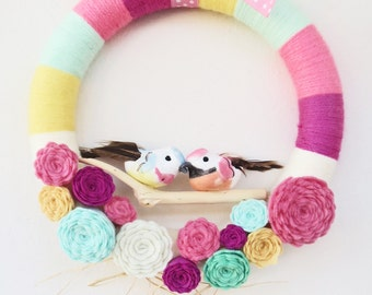 Spring Felt Door Wreath