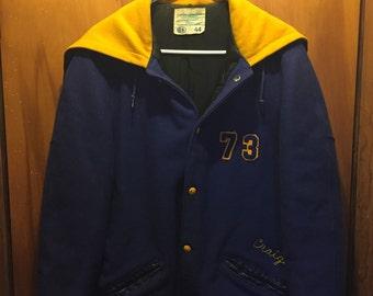Mens vintage varsity lettermans jacket east Canton hs