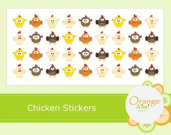 Chicken Stickers - Chicken Farm Hen Stickers - Chicken Egg Stickers - Planner Stickers