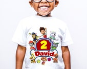 Paw Patrol inspired Birthday T-shirt kids and parents