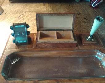 A vintage desk tidy