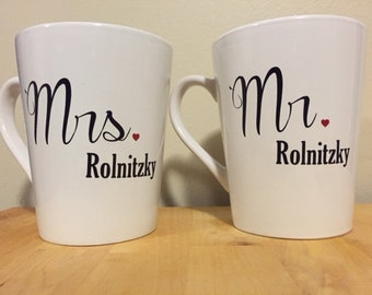 Handmade Engagement Mugs