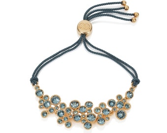 Titania 18ct gold plated Indian Sapphire SWAROVSKI Crystal Friendship Bracelet