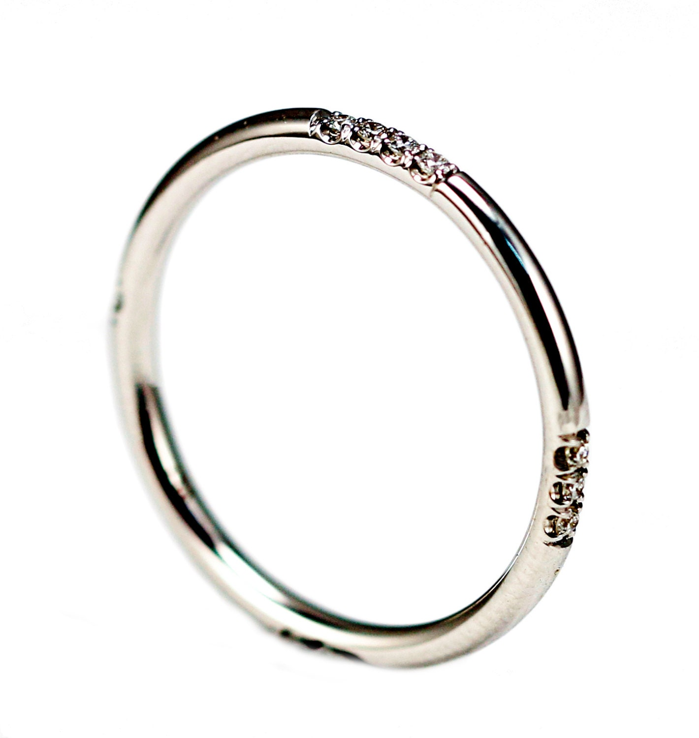 14k white gold band white gold eternity ring simple