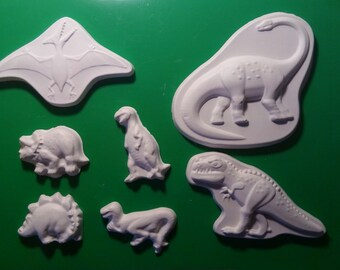 Dinosaur silicone Mold mould fondant chocolate cake decorating topper candle fimo