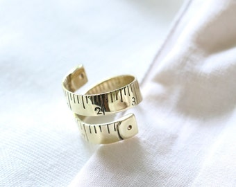 Tapeline ring,tape measure ring,style ring,brass tapeline ring,modern style ring,designed ring