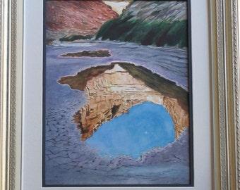 Original Watercolor Painting, desert Landscape