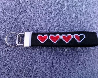 Legend of Zelda heartcontainer keyfob