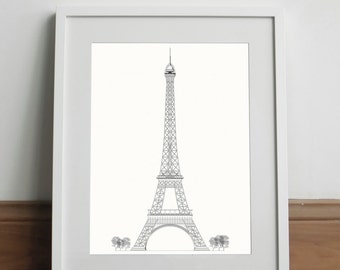 Tour Eiffel White Edition - Art print