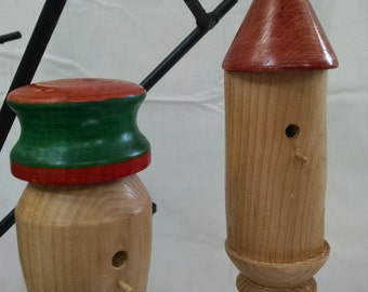 Christmas tree ornaments birdhouse style