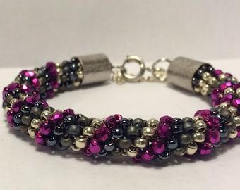 Beaded bracelet wristband