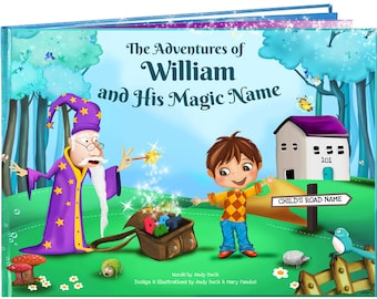 Personalized Childrens Gifts - A Personalized Kids Book Like No Other. Gift for Grandchildren - My Name Book - NEXT DAY DISPATCH
