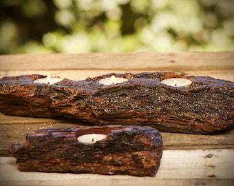 The Lumberjack, Half Log Tea Light Holders