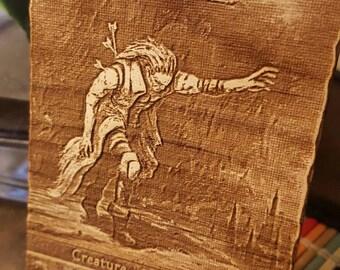2/2 Zombie Token - Laser Engraved