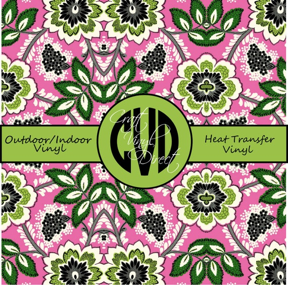 Beautiful, Vibrant Patterned Craft Vinyl and Heat Transfer Vinyl in Pattern 234