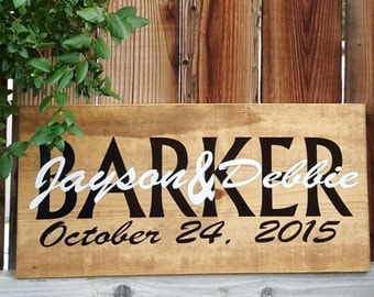 Family Name Personalized Custom Sign