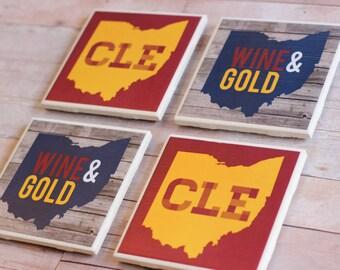 Cleveland Cavaliers Coasters, Ohio Coasters, Cleveland Coasters, Cavaliers Coasters, Coaster, Coasters, Ohio, Cleveland, Ohio Decor