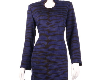 Blue zebra print dress size M