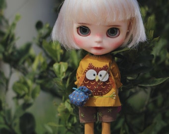 Pinty's handmade Blythe clothe{the owlet}/outfit/licca/azone