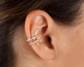 Diamond Ear Cuff Etsy