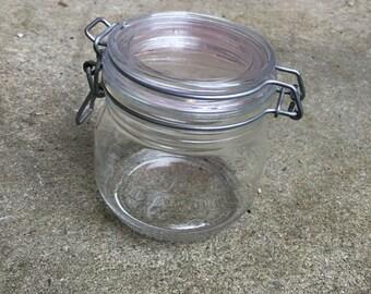 Arc France half litre kilner type storage jar Kitchen cook ware jam jar