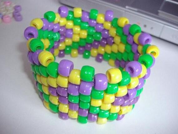 Kandi Pony Beads And Rave: Items Similar To Pony Bead Arm Cuff (Kandi) On Etsy
