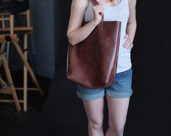 Brawn genuine leather tote bag handmade