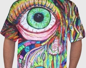 FRONT AND BACK Trippy Eyeball Tshirt