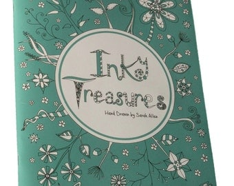 Inky Treasures, Adult Colouring Book, A4