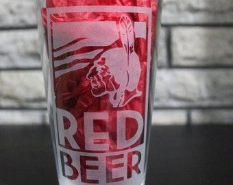 Archer Red Beer Pint Glass