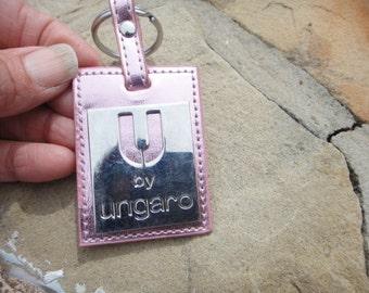 ungaro pink  key ring