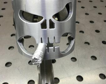 Piston skull decoration.