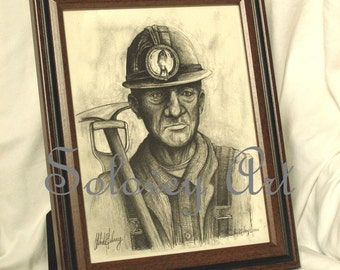 The Coal Miner By artist Michael Solovey