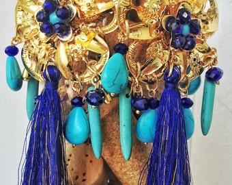 Maxi earrings azulejo