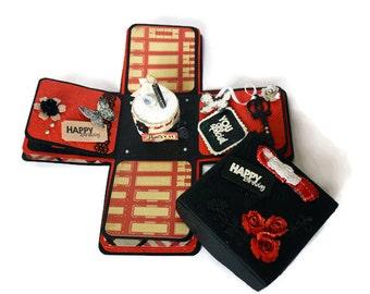 Explosion Box, Scrapbook album, Exploding box, personalized Husband gift, Birthday gift, Anniversary gift, Wedding gift, boyfriend gift