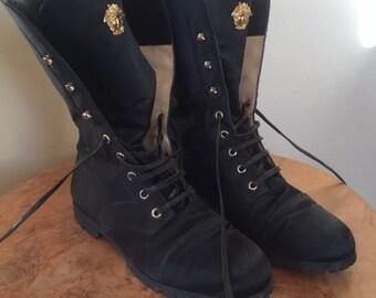 Gianni Versace medusa boots