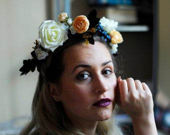 Handmade Flower Hair Crown. Perfect for different occasions, weddings
